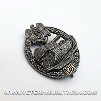 Distintivo de Lucha con Carros de Combate 25 (Envejecida)