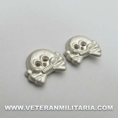 Panzer Collar Tabs Skull