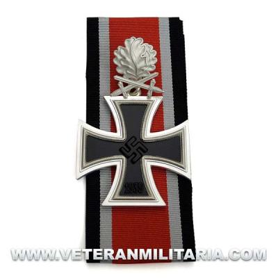 Cruz de Caballero de la Cruz de Hierro con hoja de roble y espadas 3 piezas