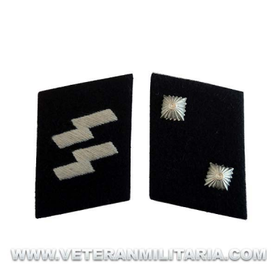 SS Oberscharfuhrer Collar Tabs