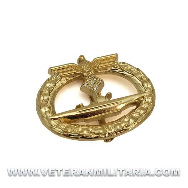 Distintivo de Combate de Submarinos con Diamantes