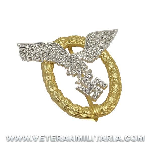 Distintivo Piloto Observador de la Luftwaffe con Diamantes
