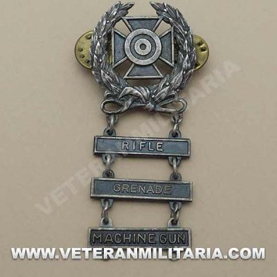 Expert Shooter Badge 3 Bars Original