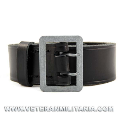 Officers black leather belt