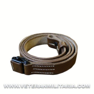 MP40 leather sling, dark brown