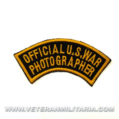 Parche Official U.S. Army Photographer