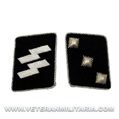 SS Officer's Rune collar patches Untersturmführer