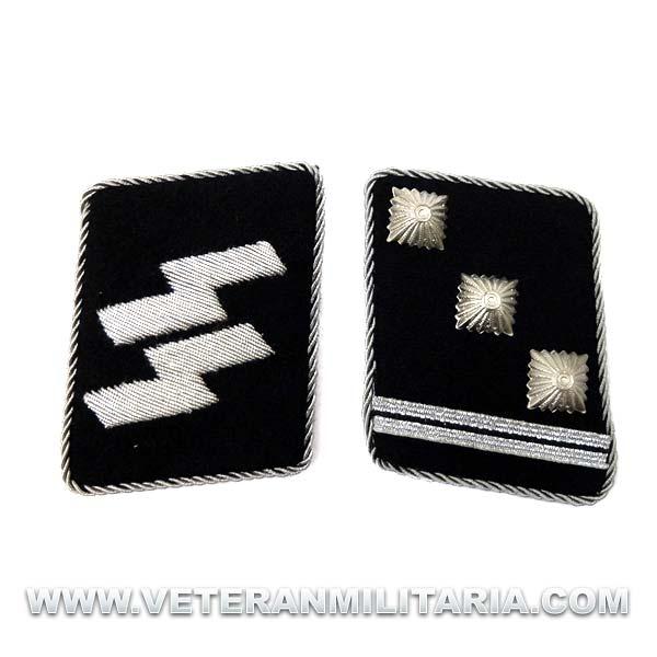 SS Officer's Rune collar patches Obersturmführer