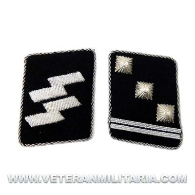 Parches de Cuello SS Obersturmführer – Teniente