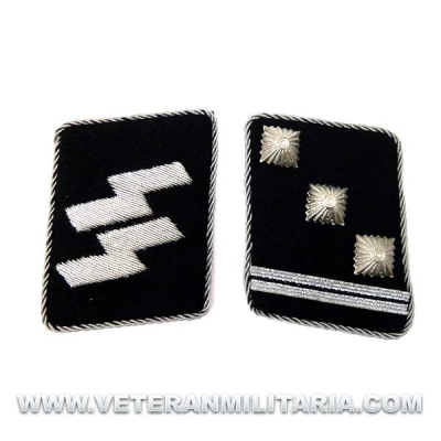 SS Officer's Rune collar patches Obersturmführer