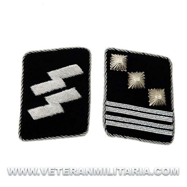 SS Officer's Rune collar patches Hauptsturmführer