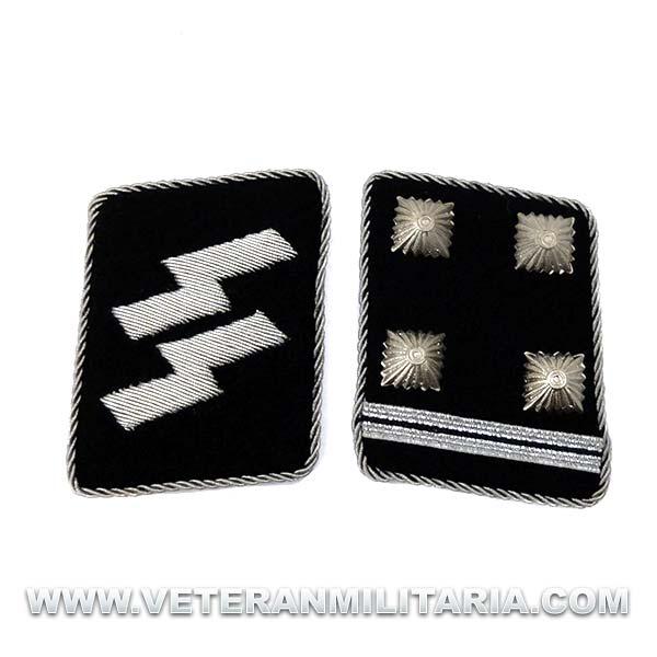 SS Officer's Rune collar patches Obersturmbannführer