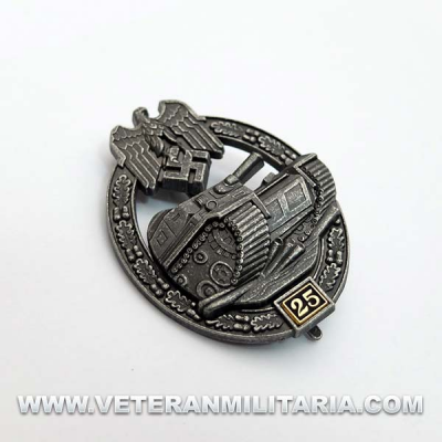 Panzer Assault Badge 25 (Antique Finish)