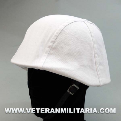 Winter camouflage helmet cover