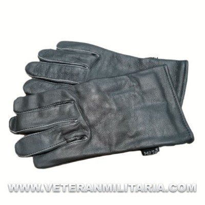 Grey Leather Gloves