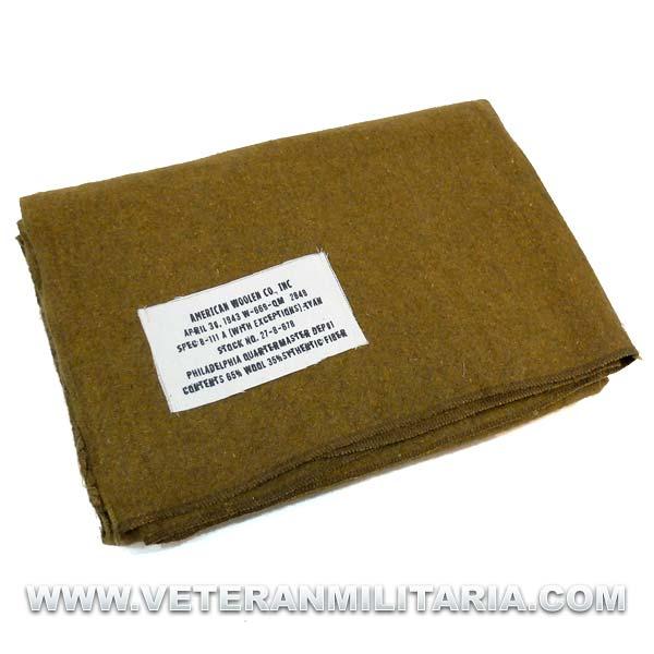 US Mustard Wool Blanket