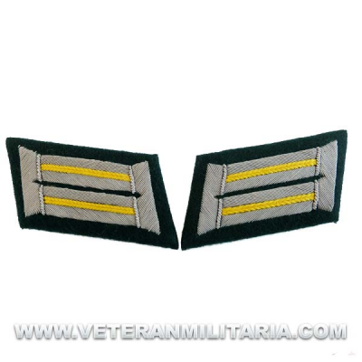 German Army Officer Collar Tabs Cavalry