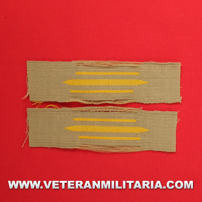 Afrika Korps enlisted mans woven collar patches