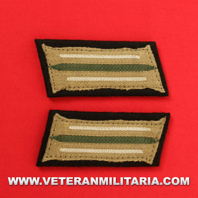 Army Infantry enlisted mans collar patches (mounted)