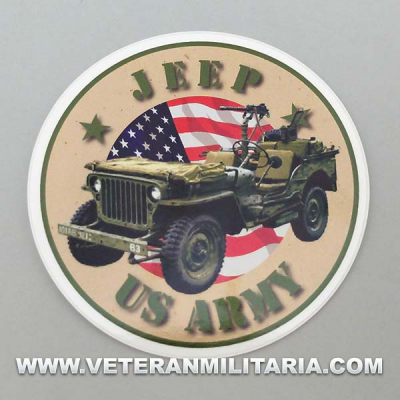 Sticker Jeep U.S. Army