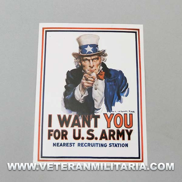 Sticker I Want You For Army