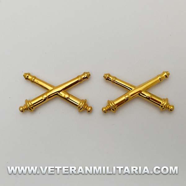 Insignias de Cuello para Oficiales de Artillería US