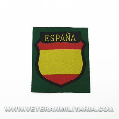 Spanish Division volunteer silk woven sleeve shield