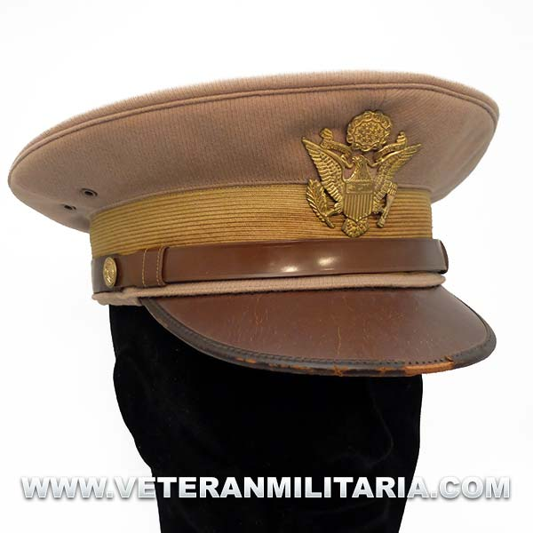 """US Army Officer's """"pink"""" Visor Hat Original"""