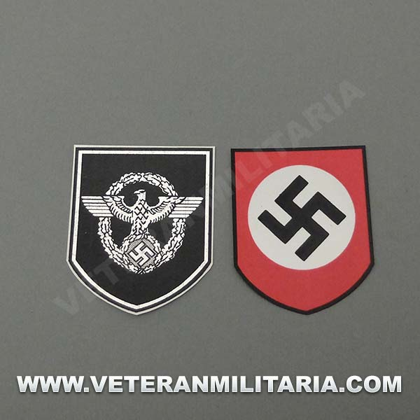 Decals for Helmet German Polizei