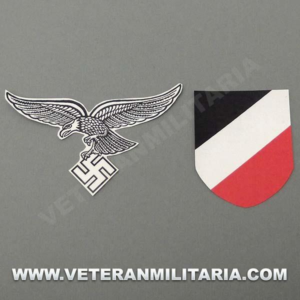 Decal for Helmet German Luftwaffe 1 Pattern