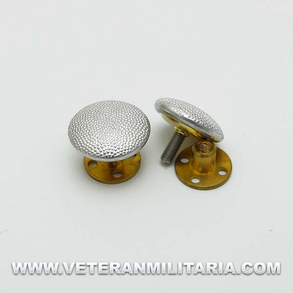 Silver buttons with screwback fixing