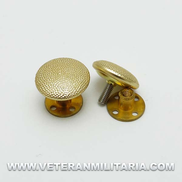 Gold buttons with screwback fixing
