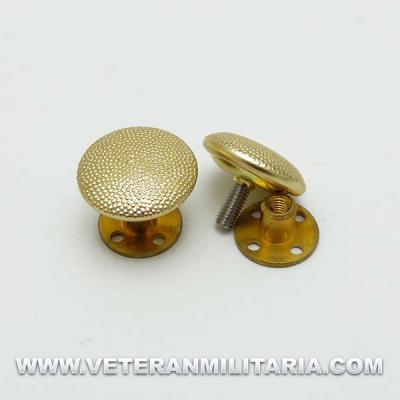 Botones de rosca para hombreras (dorados)