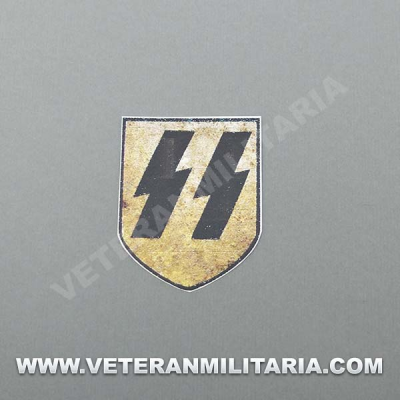 Decal for German Helmet Waffen SS aged