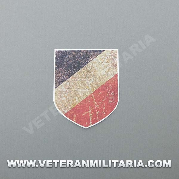 Decal for German Helmet Tricolor shield aged