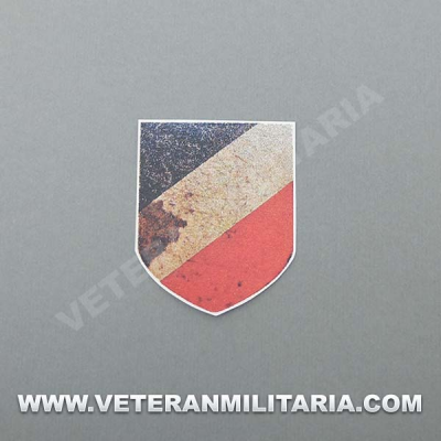 Decal for German Helmet Tricolor shield aged (2)