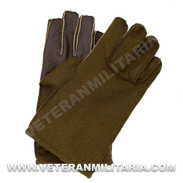 Woolen Gloves with Leather Palm US