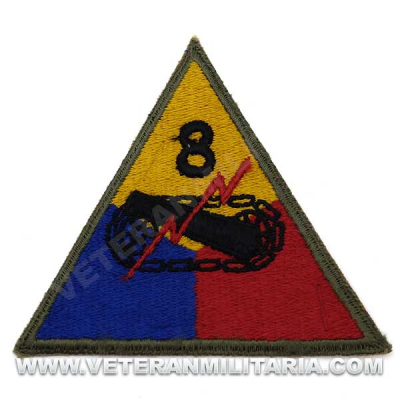 Patch, 8th Armored Division (Iron Snake) Original