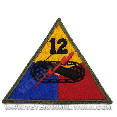 Patch, 12th Armored Division (Hellcat) Original