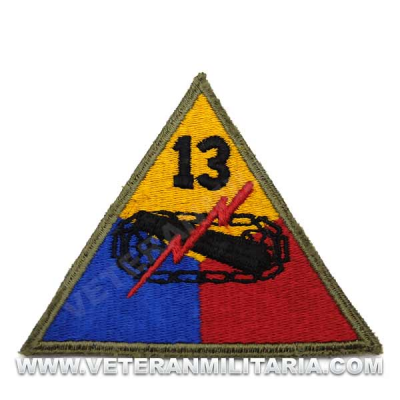 Patch, 13th Armored Division (Black Cat)) Original