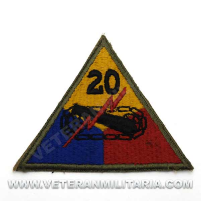 Patch, 20th Armored Division (Armoraiders or Liberators) Original
