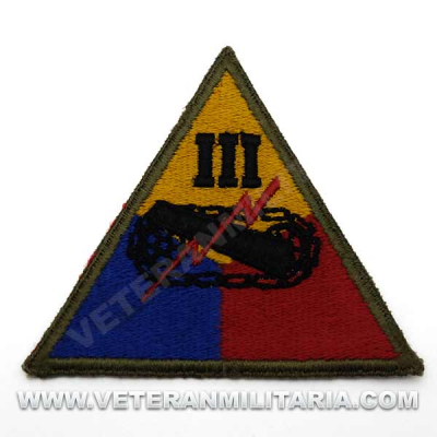 Patch, IIIth Armored Division Original