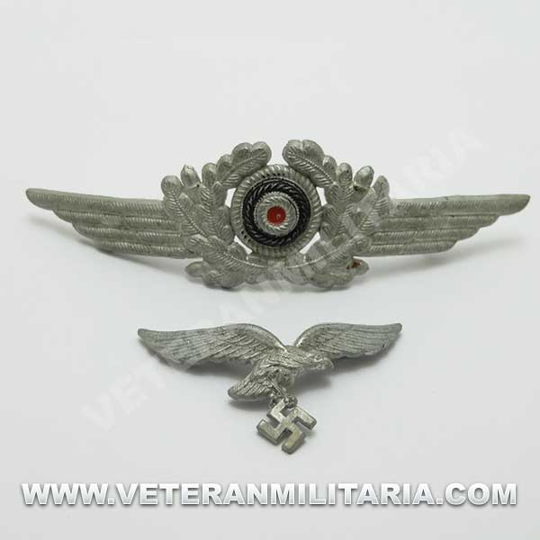 Luftwaffe Original Cap Badge Set