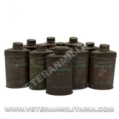 Can of Talc Foot Powder Original
