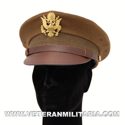 Visor hat, officer's OD