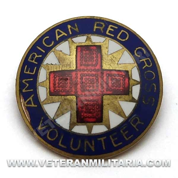 American Red Cross Volunteer Pin, Production Corp (3)