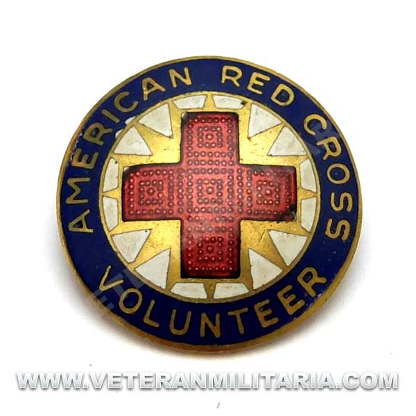 American Red Cross Volunteer Pin, Production Corp (4)