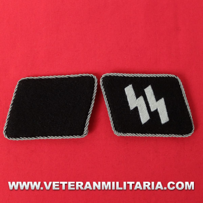 SS Officer's Rune collar patches